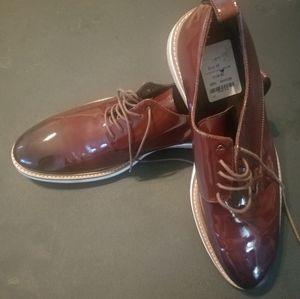 Brown patient leather shoes NWT